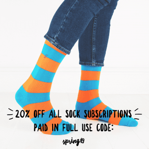 20% Off all sock subscriptions